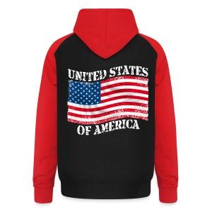 USA United States - Sweat-shirt baseball unisexe