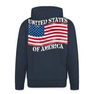USA United States - Veste à capuche Premium Homme
