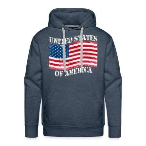 USA United States - Sweat-shirt à capuche Premium pour hommes