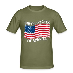USA United States - Tee shirt près du corps Homme