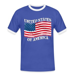 USA United States - T-shirt contrasté Homme