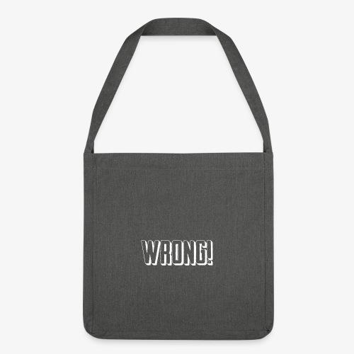 Wrong! shoulder bag - Shoulder Bag made from recycled material