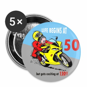 Badge - Life begins at 50 - Buttons large 56 mm