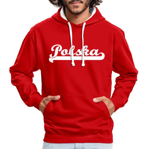 Premium Kontrast Kapuzenpullover, Polska - Kontrast-Hoodie