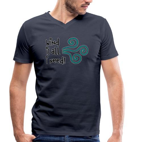 Wind is all V-Shirt Burschn - Männer Bio-T-Shirt mit V-Ausschnitt von Stanley & Stella