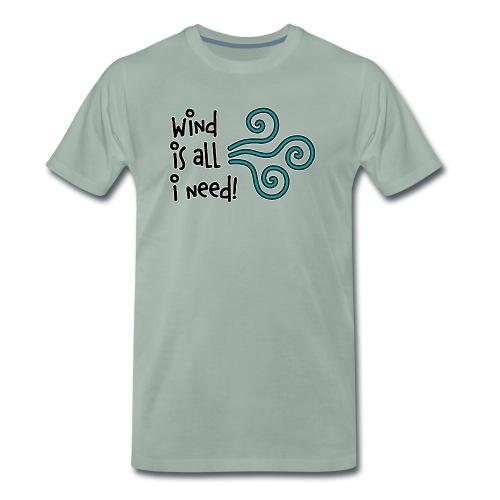 Wind is all T-Shirt Burschn - Männer Premium T-Shirt