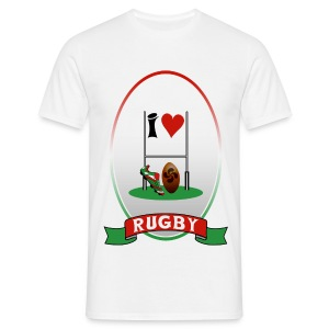 mens rugby 3 - Men's T-Shirt