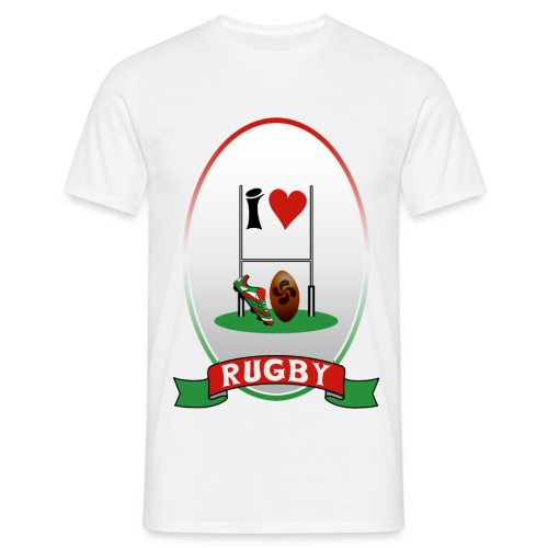mens rugby 3 - Men's T-Shirt