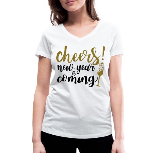 Cheers! - Frauen Bio-T-Shirt mit V-Ausschnitt von Stanley & Stella