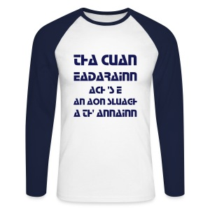 Lèine fada Cuan Eadarainn (fir) - Men's Long Sleeve Baseball T-Shirt