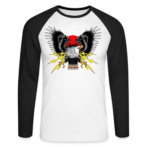 Old School Adler - Männer Baseballshirt langarm
