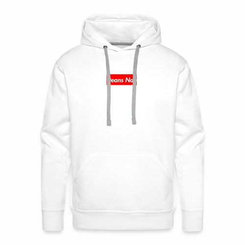 Supreme X  Deans Nan hoodie Box Logo * white * - Men's Premium Hoodie