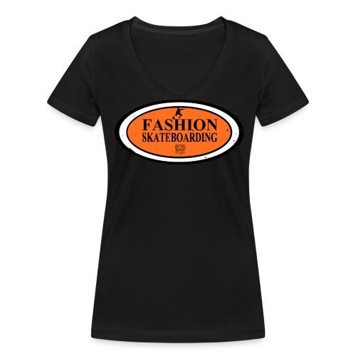 T-shirt Femme Skateboarding - T-shirt bio col V Stanley & Stella Femme