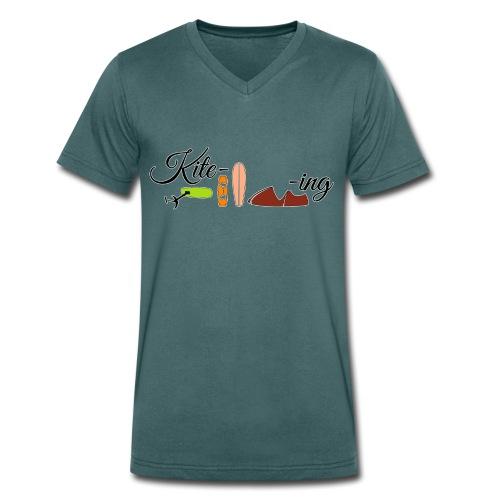 Kite-ing V-Shirt - Männer Bio-T-Shirt mit V-Ausschnitt von Stanley & Stella