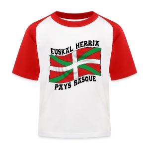Ikurriña - drapeau Basque - T-shirt baseball Enfant