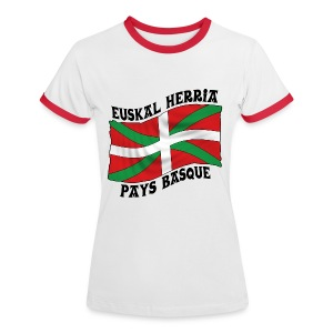 Ikurriña - drapeau Basque - T-shirt contrasté Femme