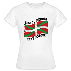 Ikurriña - drapeau Basque - T-shirt Femme