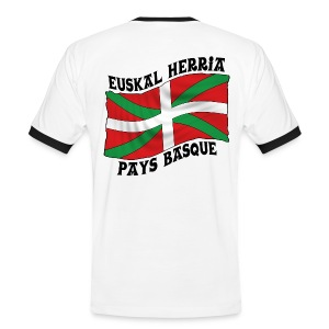 Ikurriña - drapeau Basque - T-shirt contrasté Homme