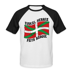 Ikurriña - drapeau Basque - T-shirt baseball manches courtes Homme