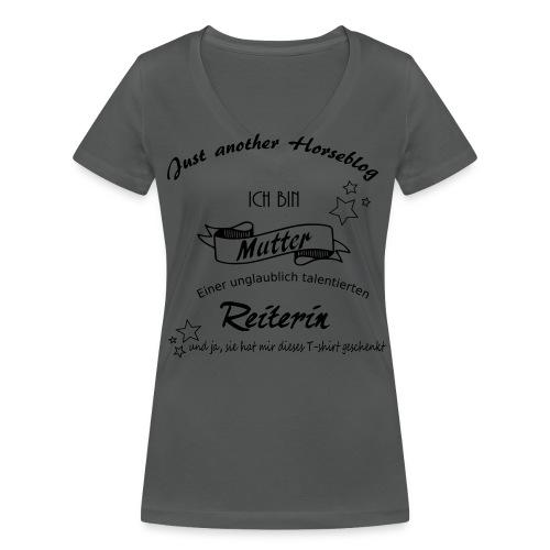 Mutter einer Reiterin - Frauen Bio-T-Shirt mit V-Ausschnitt von Stanley & Stella