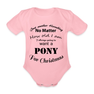 Pony for Christmas - Baby Bio-Kurzarm-Body