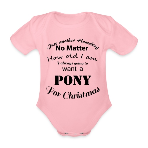 Pony for Christmas - Baby Bio-Kurzarm-Body