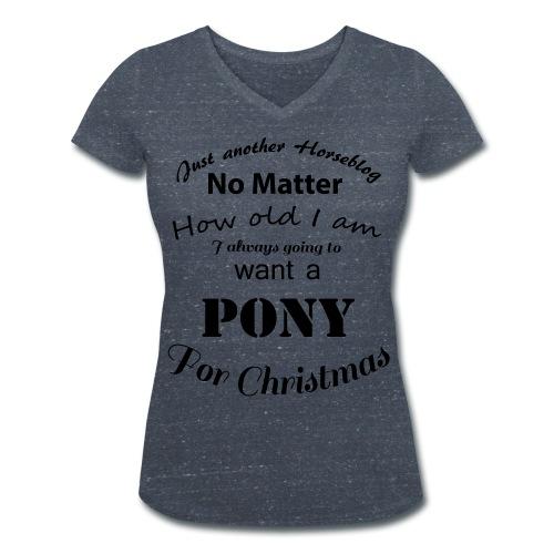 Pony for Christmas - Frauen Bio-T-Shirt mit V-Ausschnitt von Stanley & Stella