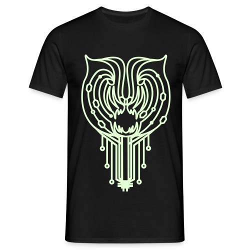 Tigertronic_Glow_Man - Männer T-Shirt