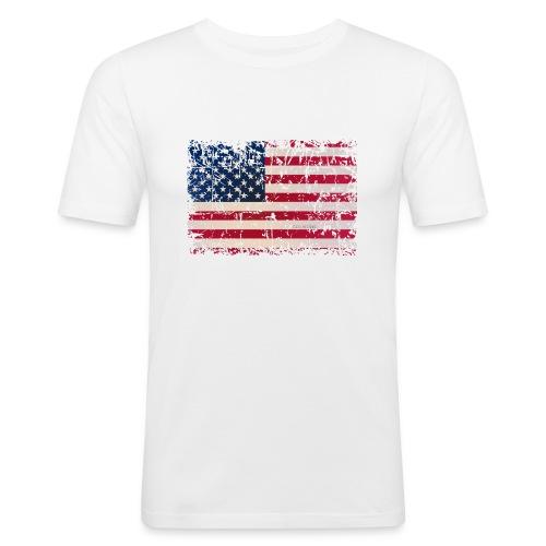 Männer Slim Fit T-Shirt USA - Männer Slim Fit T-Shirt