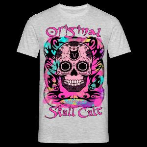 ORIGINAL SKULL CULT PINK - Männer T-Shirt