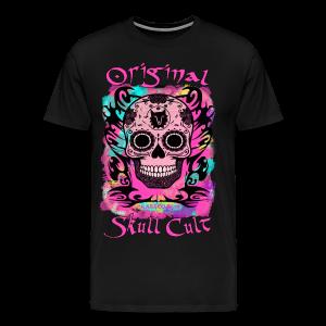 ORIGINAL SKULL CULT PINK - Männer Premium T-Shirt