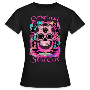 ORIGINAL SKULL CULT PINK - Frauen T-Shirt