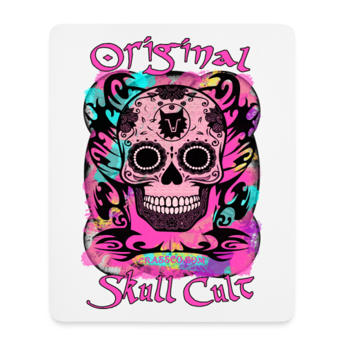 ORIGINAL SKULL CULT PINK - Mousepad (Hochformat)