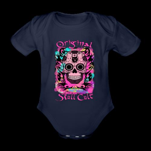 ORIGINAL SKULL CULT PINK - Baby Bio-Kurzarm-Body