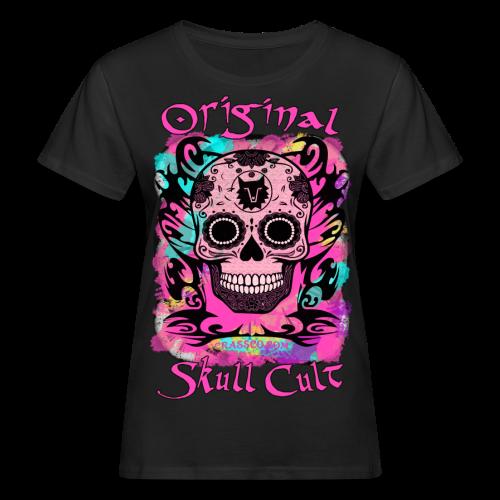 ORIGINAL SKULL CULT PINK - Frauen Bio-T-Shirt