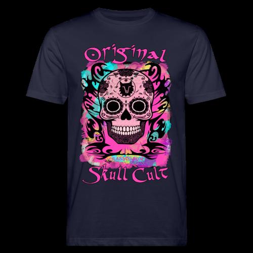 ORIGINAL SKULL CULT PINK - Männer Bio-T-Shirt