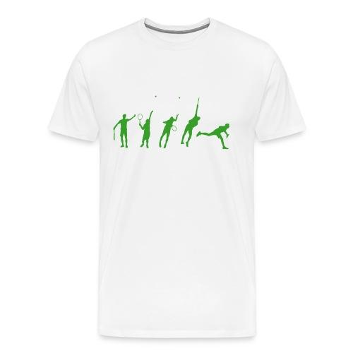 Tennis Serve Stages Premium Tee - Men's Premium T-Shirt