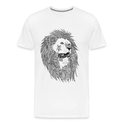 T-shirt Homme indienne coiffe de lion - T-shirt Premium Homme