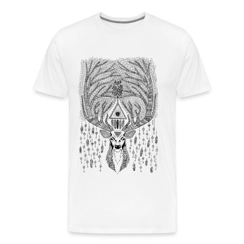 T-shirt Homme cerf de la forêt mystère - T-shirt Premium Homme