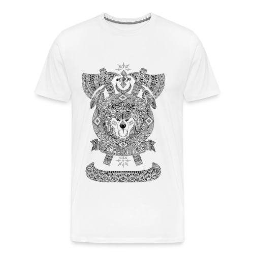 T-shirt Homme Emblème indien terre de feu ours - T-shirt Premium Homme