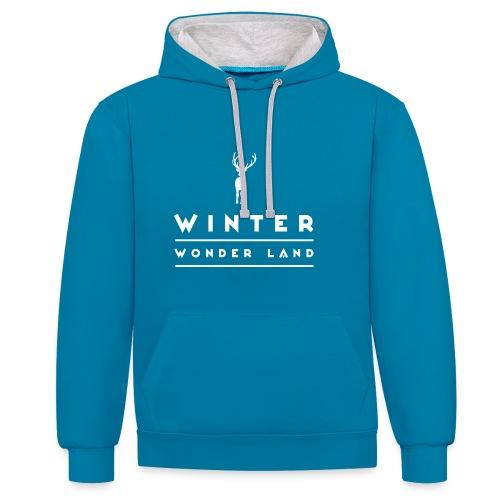 Winter Wonder Land - Kontrast-Hoodie