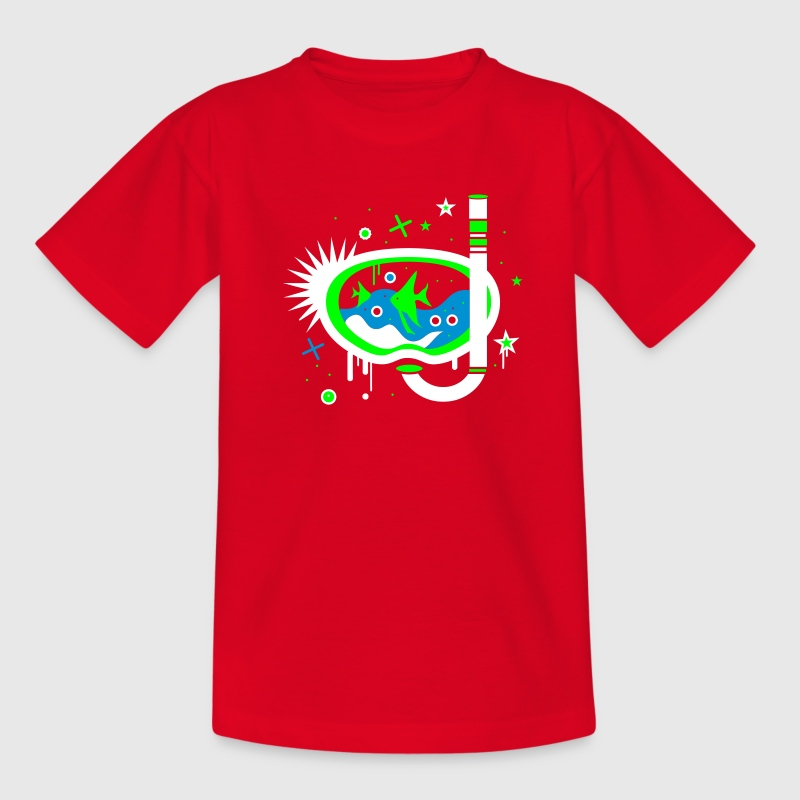 Red Snorkeling Kids' Shirts - Teenage T-shirt
