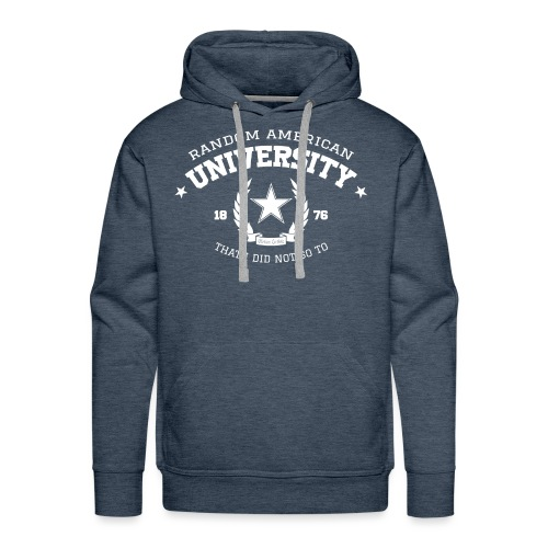 University mannen premium hoodie - Mannen Premium hoodie