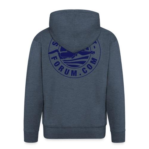 Männer Kapuzenjacke mit Stempel-Logo in navy - Männer Premium Kapuzenjacke