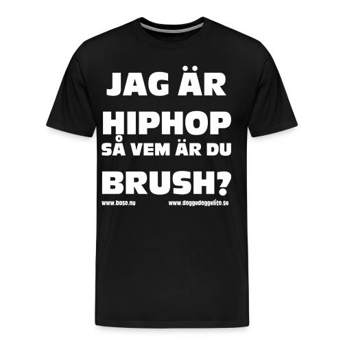 Baso - logo - dark shirt - Premium-T-shirt herr