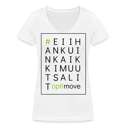 eiihankuinkaikkimuutsalit - Stanley & Stellan naisten v-aukkoinen luomu-T-paita