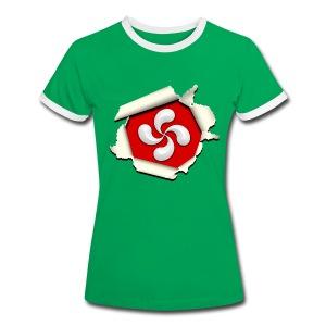 Croix du Pays Basque - Lauburu - T-shirt contrasté Femme