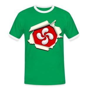 Croix du Pays Basque - Lauburu - T-shirt contrasté Homme