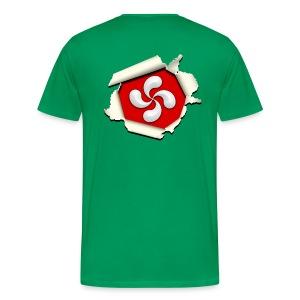 Croix du Pays Basque - Lauburu - T-shirt Premium Homme