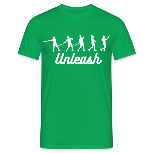 Unleash Tennis Forehand Stages Tee (white design) - Men's T-Shirt
